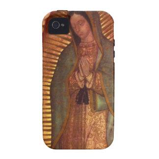 Caso duro de Guadalupe iPhone 4 Fundas