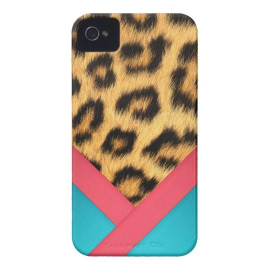 Caso duro de Iphone 4 de la piel de Jaguar Funda Para iPhone 4