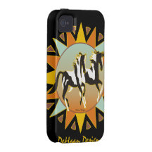 Caso duro de Iphone 4 del caballo de la pintura de Case-Mate iPhone 4 Funda