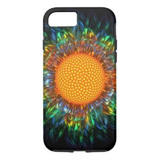 Caso duro de la margarita del resplandor solar funda iPhone 7