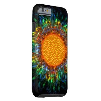 Caso duro de la margarita del resplandor solar funda resistente iPhone 6