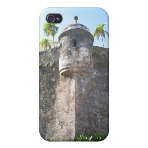Caso duro de Puerto Rico 4 Shell para el iPhone 4 iPhone 4 Funda