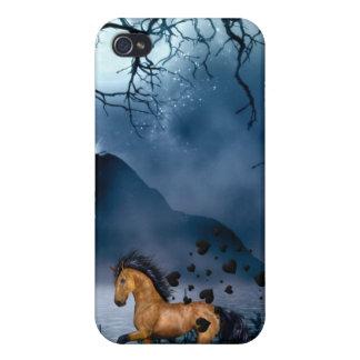 Caso duro de Speck® Fitted™ Shell para el caballo  iPhone 4 Cárcasas