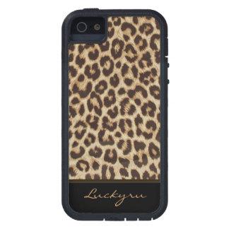 Caso duro de Xtreme del estampado leopardo de enca iPhone 5 Carcasas