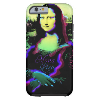 Caso duro del arte pop del iPhone 6 de Mona Lisa Funda De iPhone 6 Tough