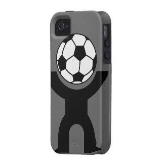 caso duro del individuo del fútbol del iPhone 4/4S iPhone 4 Carcasas