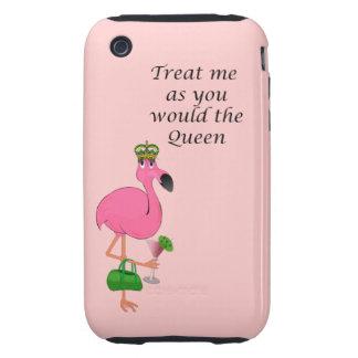 Caso duro del iPhone 3G/3GS de la reina del flamen Tough iPhone 3 Cárcasas