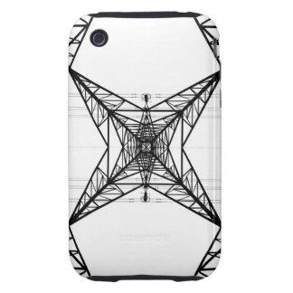 Caso duro del iPhone 3G/3GS de los pilones de la e Tough iPhone 3 Carcasa