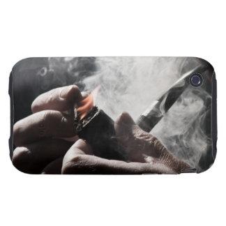 Caso duro del iPhone 3G/3GS del tubo que fuma iPhone 3 Tough Carcasas