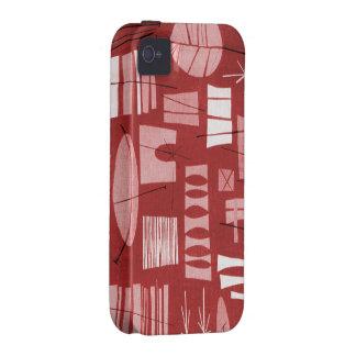 caso duro del iPhone 4 4S 2-PRAIRIE GEOMÉTRICO SU Vibe iPhone 4 Carcasa