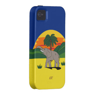 Caso duro del iPhone 4/4S del elefante de Gold iPhone 4/4S Funda
