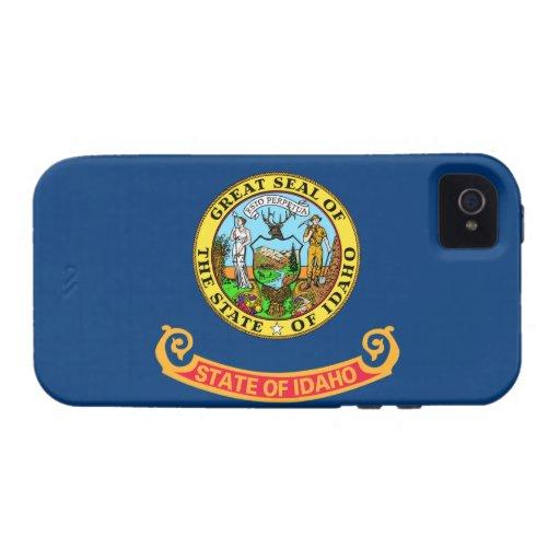 Caso duro del iPhone 4 de la bandera de Idaho iPhone 4 Carcasas