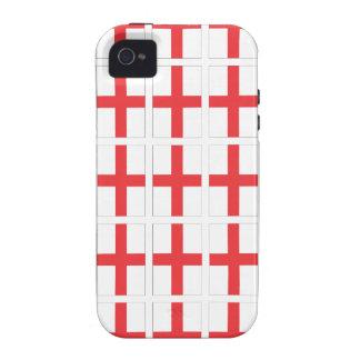 Caso duro del iPhone 4 de la bandera de Inglaterra iPhone 4/4S Fundas