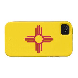 Caso duro del iPhone 4 de la bandera de New México Case-Mate iPhone 4 Carcasas