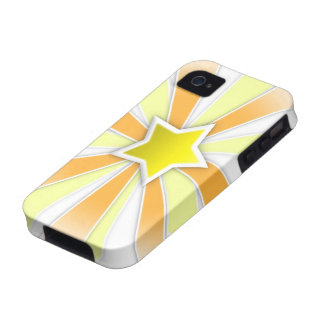 Caso duro del iPhone 4 de la estrella Vibe iPhone 4 Funda