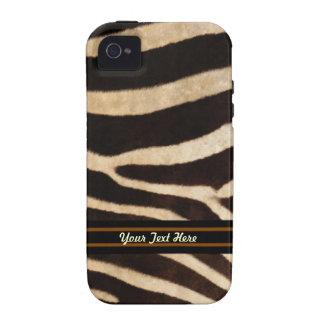 Caso duro del iPhone 4 de la raya de la cebra - pe Case-Mate iPhone 4 Funda