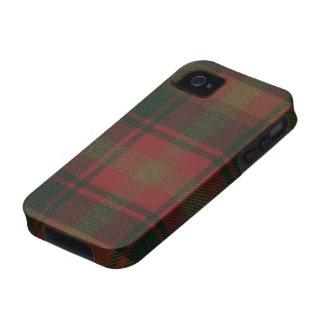 Caso DURO del iPhone 4 del tartán de la hoja de ar Vibe iPhone 4 Carcasa