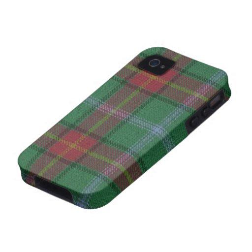 Caso DURO del iPhone 4 del tartán de Manitoba Funda Para iPhone 4