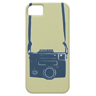 Caso duro del iPhone 5 azules retros de la cámara iPhone 5 Case-Mate Cárcasas