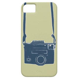 Caso duro del iPhone 5 azules retros de la cámara iPhone 5 Fundas
