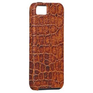 Caso duro del iPhone 5 de la piel del cocodrilo de iPhone 5 Funda