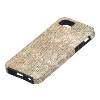 Caso duro del iPhone 5 de las lentejuelas del oro iPhone 5 Cárcasa
