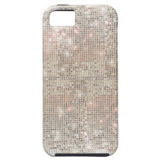 Caso duro del iPhone 5 de plata de las lentejuelas Funda Para iPhone SE/5/5s