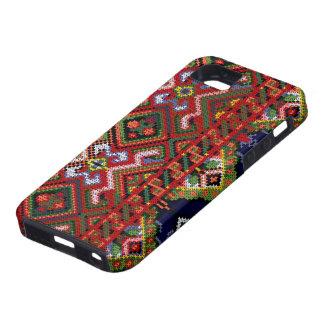 Caso DURO del iPhone 5 del bordado de Ucrania Funda Para iPhone SE/5/5s
