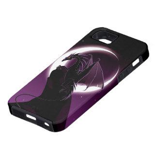 Caso duro del iPhone 5 del dragón púrpura Funda Para iPhone 5 Tough