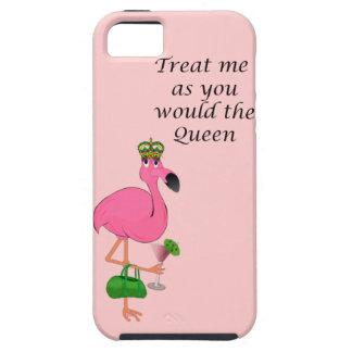 Caso duro del iPhone 5 del flamenco de la reina iPhone 5 Carcasas