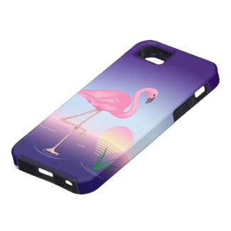 Caso duro del iPhone 5 del flamenco rosado Funda Para iPhone 5 Tough