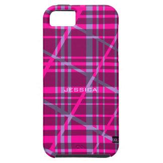 Caso duro del iPhone 5 púrpuras retros del rosa de iPhone 5 Fundas
