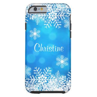 Caso duro del iPhone 6 de Bokeh del copo de nieve Funda Para iPhone 6 Tough
