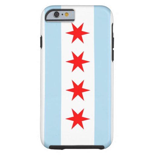 Caso duro del iPhone 6 de la bandera de Chicago Funda De iPhone 6 Tough