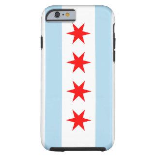 Caso duro del iPhone 6 de la bandera de Chicago Funda Para iPhone 6 Tough