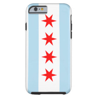 Caso duro del iPhone 6 de la bandera de Chicago Funda Resistente iPhone 6
