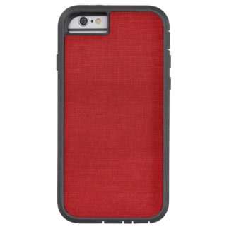 Caso duro del iPhone 6 de lino rojos de la foto de Funda Para iPhone 6 Tough Xtreme