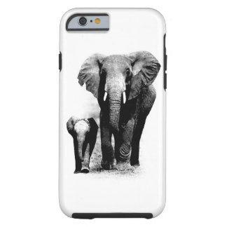 Caso duro del iPhone 6 de los elefantes Funda De iPhone 6 Tough