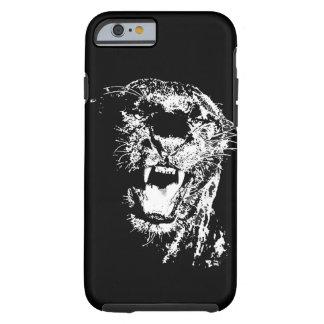 Caso duro del iPhone 6 del arte pop de Jaguar Funda De iPhone 6 Tough