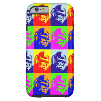 Caso duro del iPhone 6 del arte pop del gorila Funda Para iPhone 6 Tough