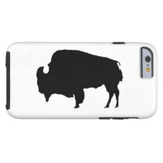 Caso duro del iPhone 6 del búfalo blanco del negro Funda Resistente iPhone 6