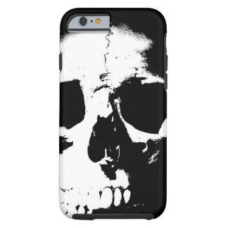 Caso duro del iPhone 6 del cráneo negro y blanco Funda Resistente iPhone 6