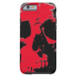 Caso duro del iPhone 6 del cráneo negro y rojo Funda De iPhone 6 Tough