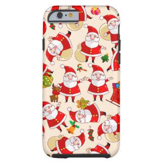 Caso duro del iPhone 6 del oro rojo de Santa de Funda Para iPhone 6 Tough