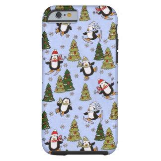 Caso duro del iPhone 6 del pingüino del navidad Funda De iPhone 6 Tough