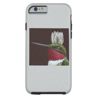 Caso duro del iPhone 6 del rey del colibrí Funda De iPhone 6 Tough