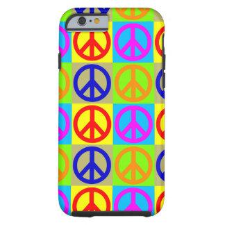 Caso duro del iPhone 6 del signo de la paz del Funda Resistente iPhone 6