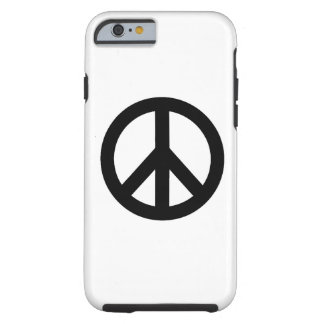 Caso duro del iPhone 6 del símbolo blanco negro Funda Resistente iPhone 6
