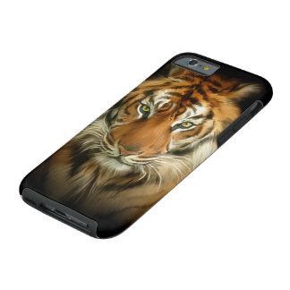 Caso duro del iPhone 6 del tigre salvaje Funda De iPhone 6 Tough