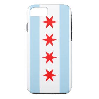 Caso duro del iPhone 7 de la bandera de Chicago Funda iPhone 7